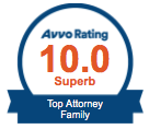 Avvo Rating - 10.0, Superb. Top Attorney, family